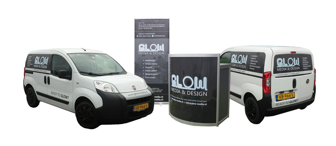 Reclame-uitingen GLOW - Media & Design